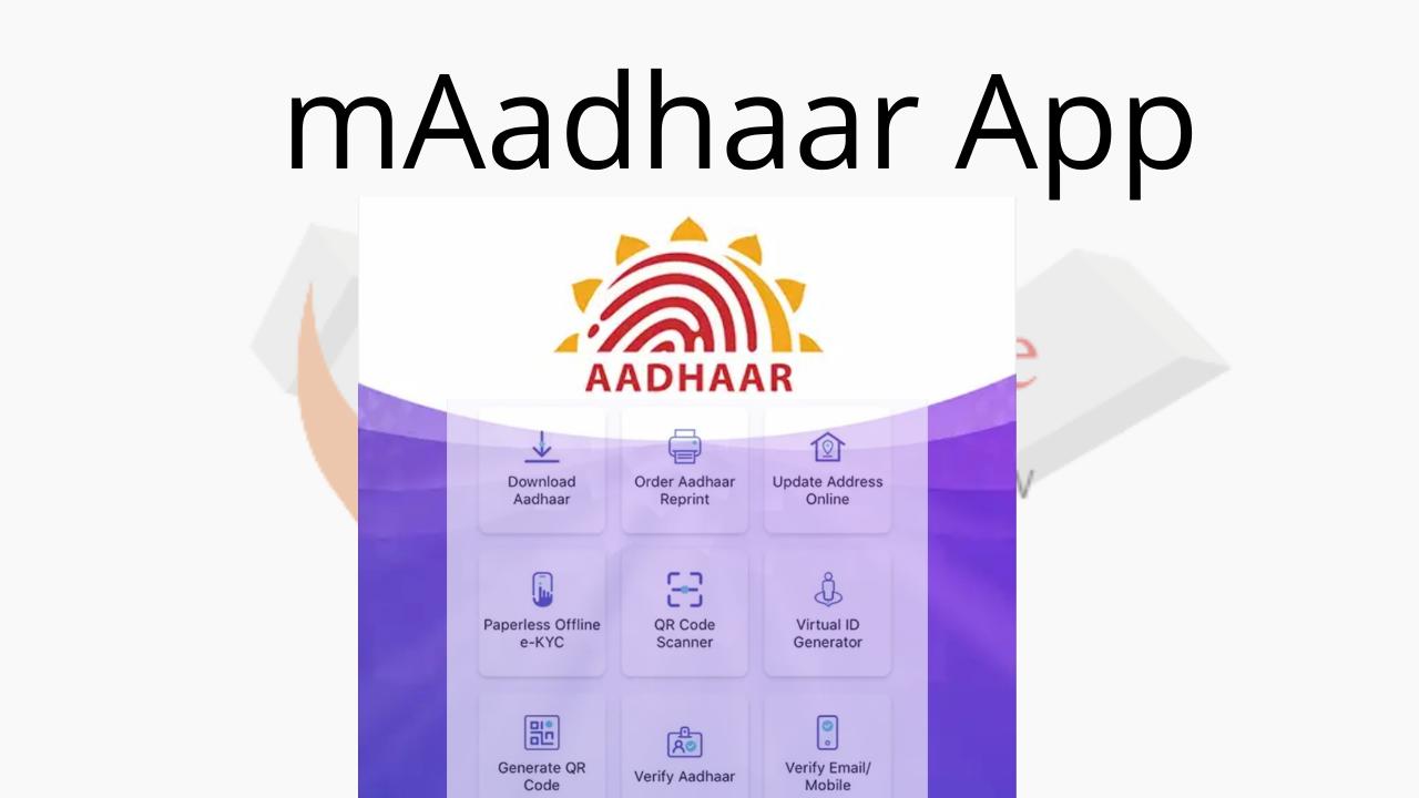 Services available on mAadhaar App